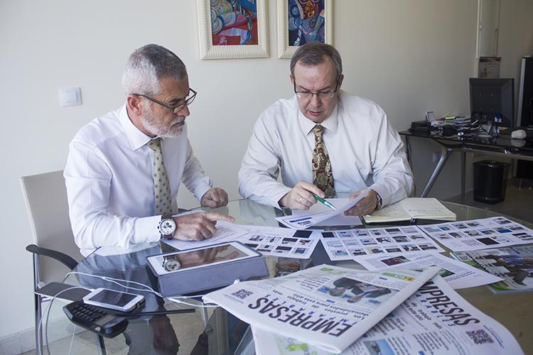 Ignacio Sánchez y Pepe Contreras en la preparación de este número de Empresas Imparables. Foto: JC Sánchez