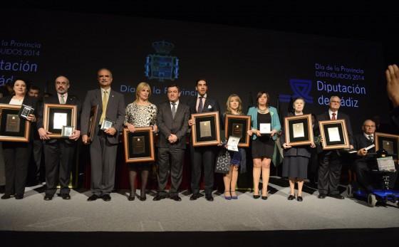 Los premiados en el Día de la Provincia de Cádiz