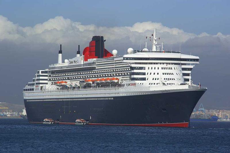 En la imagen el crucero Queen Mary 2, uno de los más grandes del mundo. Foto: Autoridad Portuaria