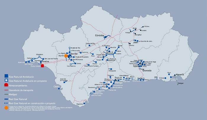 Durante 2013 Gas Natural Andalucía amplió su red de distribución en la provincia de Cádiz, que alcanzó los 297 kilómetros