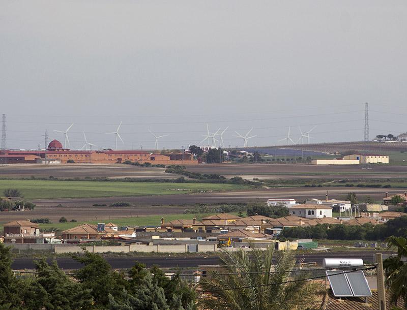 Una vista de la zona de diseminados de Manuela, Veguetas y Winthuyssen, de El Puerto. Foto JC Sánchez