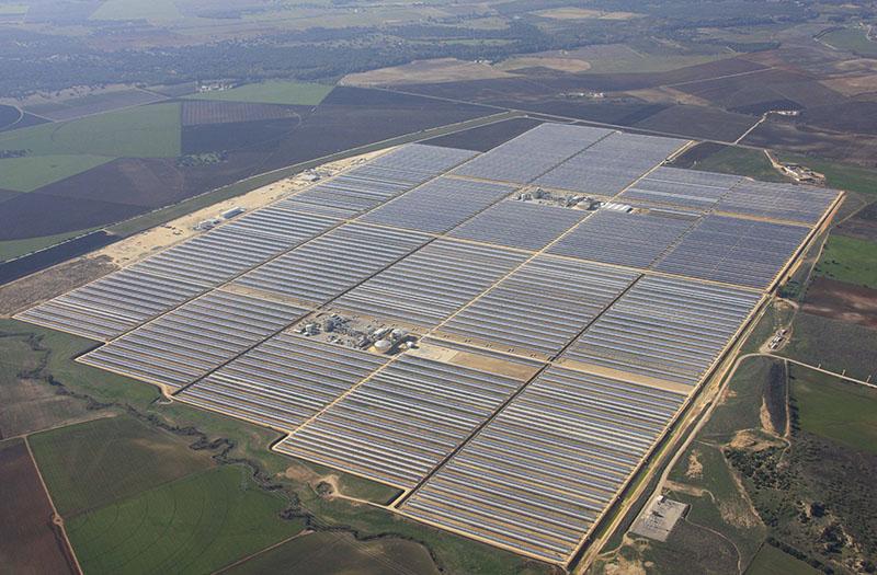 Las mega instalaciones de Sener, Valle 1 y Valle 2 en el término municipal gaditano de San José del Valle. Foto: SENER