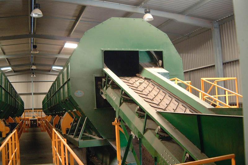 Trómel de la planta de residuos de Miramundo. Foto: EI