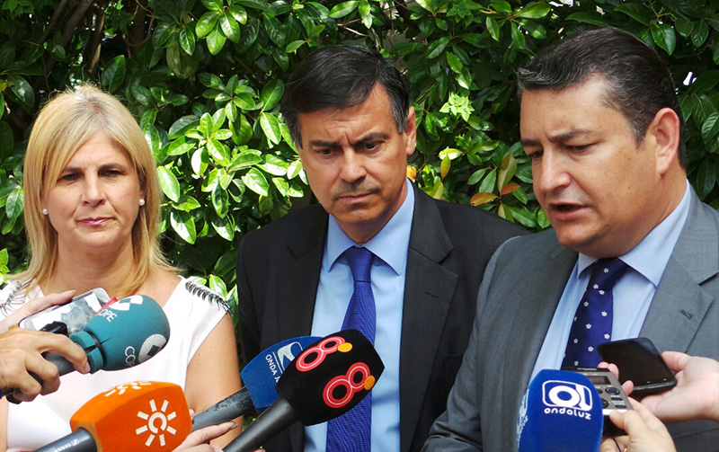 María José García Pelayo, Manuel Valle y Antonio Sanz. Foto: AJ