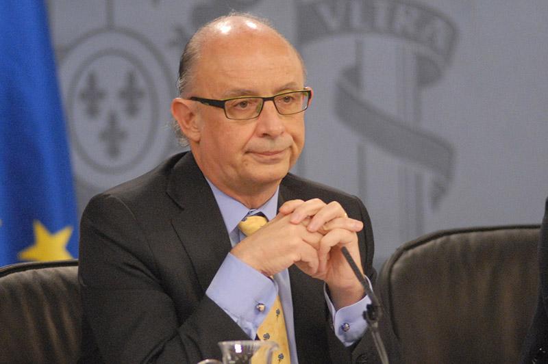 El ministro de Hacienda, Cristóbal Montoro, en una rueda de prensa del Gobierno. Foto: La Moncloa