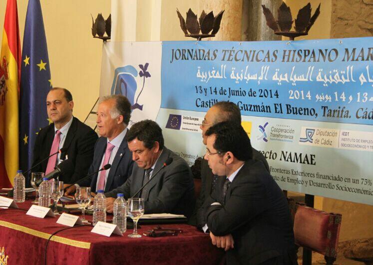 Un instante de la inauguración del encuentro hispano marroquí en Tarifa. Foto: DC