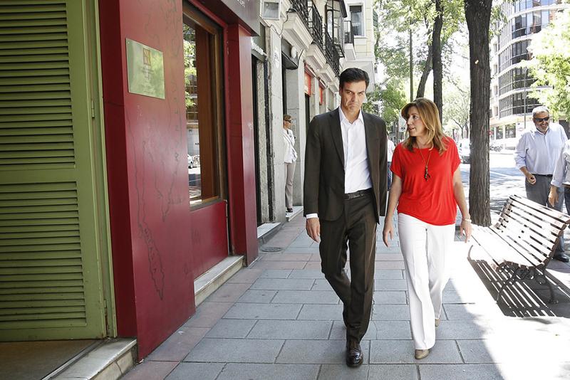 El nuevo secretario general del PSOE, Pedro Sánchez, con la presidenta de la Junta, Susana Díaz. Foto: PSOE