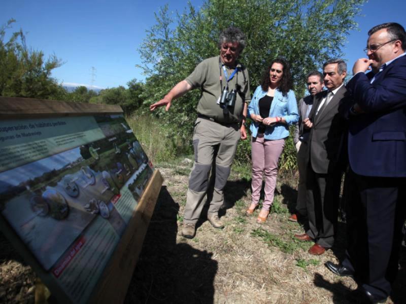 Un momento de la inauguración de la Estación Ambiental Madrevieja. Foto: CEPSA