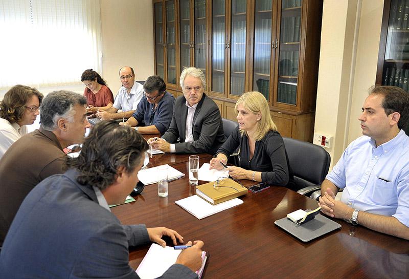 Representantes de la Junta con los Ayuntamientos de Jerez