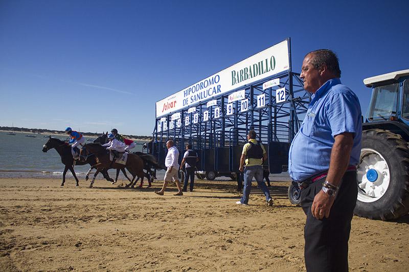 Rafael Hidalgo en la línea de salida de una de las carreras. Foto: JC Sánchez
