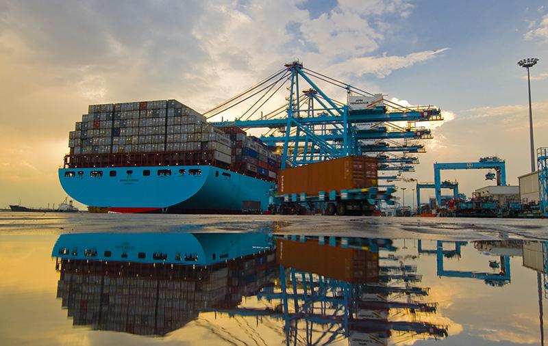 Actividad de APM Terminals en el Puerto de la Bahía de Algeciras. Foto: Nick Souza