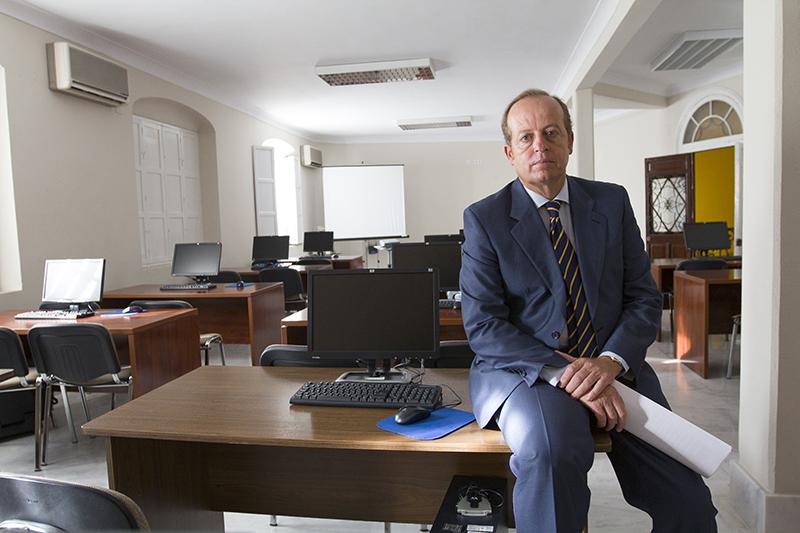 Marcos Camacho, en el aula de formación del Colegio de Abogados de Jerez