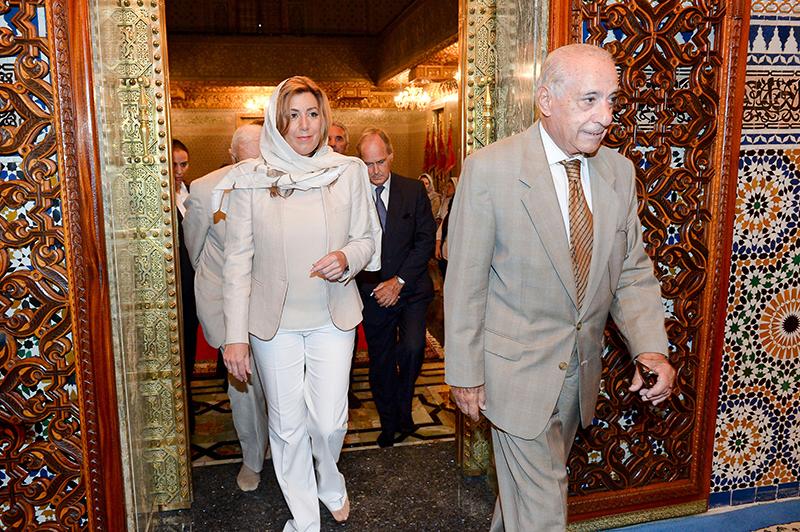 La presidenta de la Junta, Susana Díaz, durante su visita al mausoleo de Mohamed V.