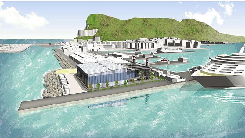 Boceto de la nueva central eléctrica proyectada por el ejecutivo de Picardo. Foto: EI