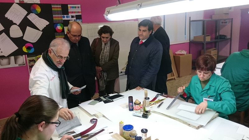 Momento de las visitas del Presidente de la CEC y de la Delegación del PSOE andaluz. Foto: EI