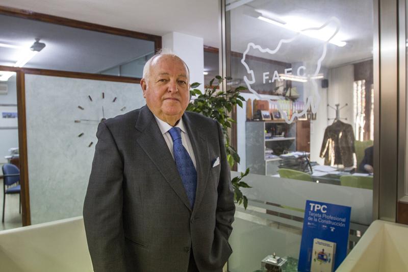 Emilio Corbacho, en la sede de la Federación, en Cádiz. Foto: JC Sánchez