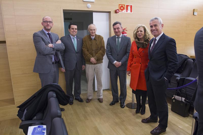 Luis Esteban, Juan Antonio Martínez, Carlos Campoy, Eduardo Mazo, Ana Alonso e Ignacio Sánchez. Foto: JC Sánchez