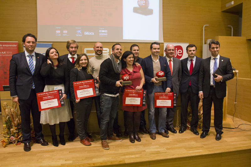 Todos los premiados en esta edición 2015 de los Premios AJE. Foto: JC Sánchez