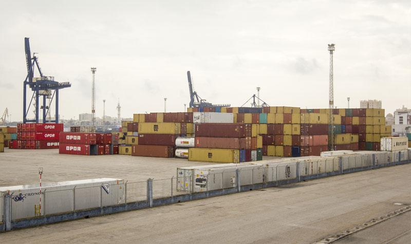 Terminal de contenedores del Puerto de Cádiz. Foto: JC Sánchez