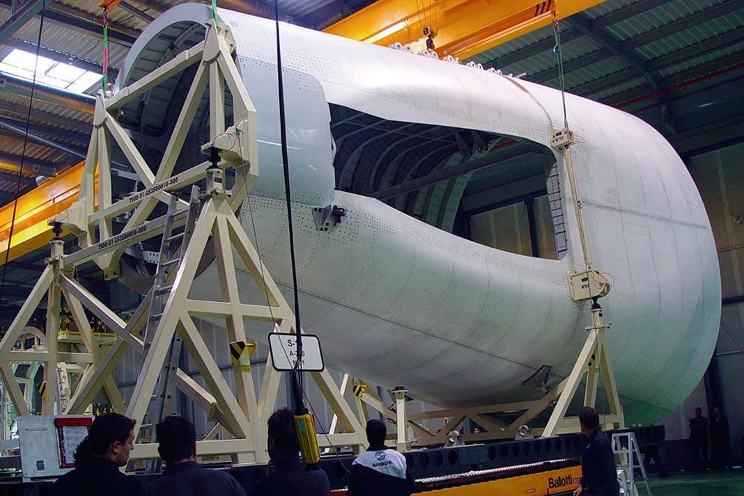 Cono de cola del A350 producido en El Puerto