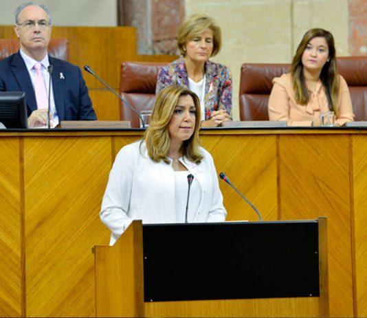Susana Díaz, presidenta de la Junta.